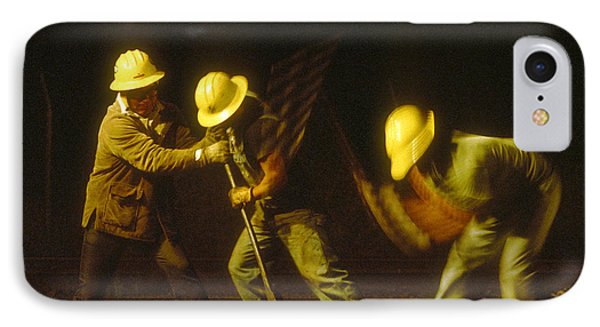 IPhone Case featuring the photograph Railroad Workers by Mark Greenberg