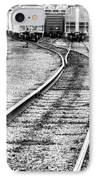 Railroad Yard Phone Case by Olivier Le Queinec