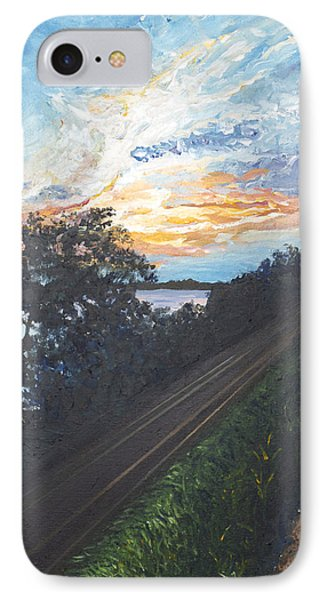 Rails Along The River Phone Case by Monica Veraguth