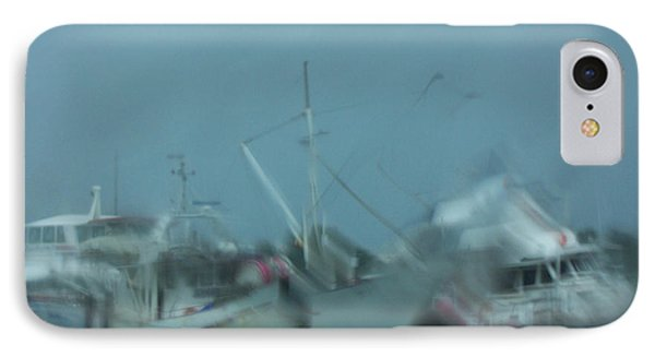 Rain Boats IPhone Case by Evelyn Tambour