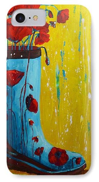 Rain Boot Series Unusual Flower Pots Phone Case by Patricia Awapara