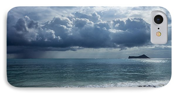 IPhone Case featuring the photograph Rain Clouds At Waimanalo by Leigh Anne Meeks