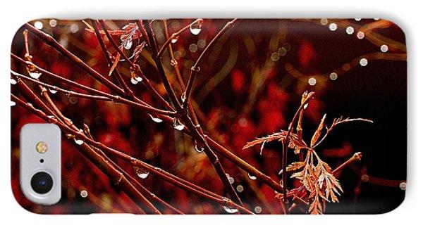 Rain Dance IPhone Case by Rona Black