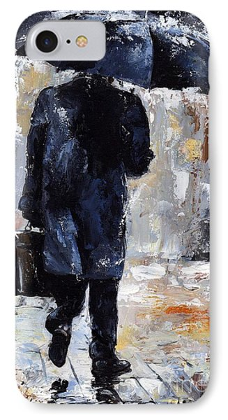 Rain Day #19 IPhone Case by Emerico Imre Toth