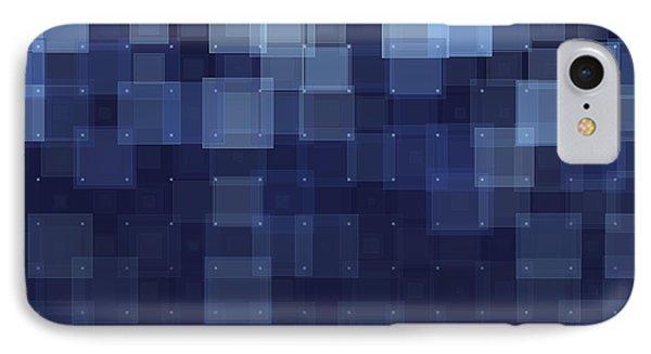 Rain Geometric Squares Pattern IPhone Case by Frank Ramspott