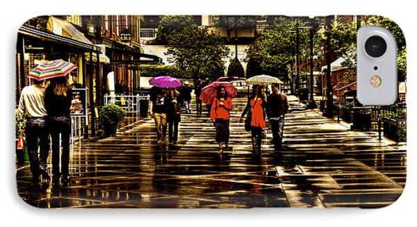 Rain In Market Square - Knoxville Tennessee Phone Case by David Patterson