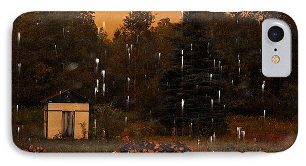 Rain In The Adirondacks IPhone Case by Diane Lent