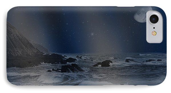 Rain Of Stars On The Sea  IPhone Case by Angel Jesus De la Fuente