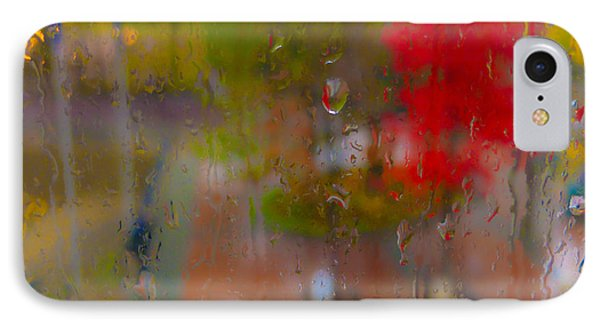 Rain On Glass Phone Case by Susan Stone