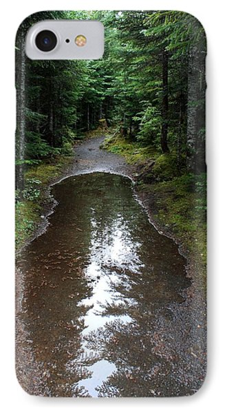 IPhone Case featuring the photograph Rain Puddle - Cheakamus Forest by Amanda Holmes Tzafrir