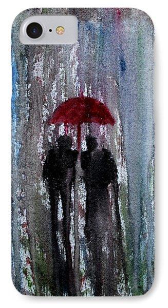 IPhone Case featuring the painting Rain by Saranya Haridasan