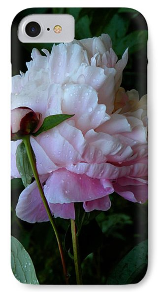 Rain-soaked Peonies Phone Case by Rona Black