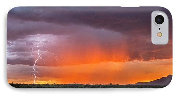 Rain Storm At Sunset IPhone Case by Roger Hill