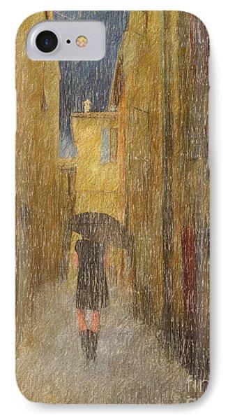 Rain Walker IPhone Case by Jim  Hatch