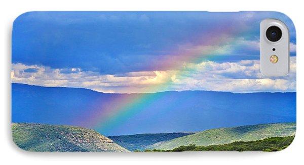 Rainbow Above The Canyon Phone Case by Janice Rae Pariza