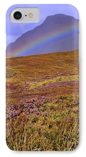 Rainbow And Heather IPhone Case by Henry Kowalski