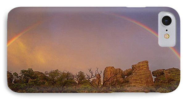 Rainbow At Chiricahua IPhone Case by Keith Kapple