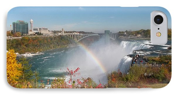 Rainbow At The American Falls IPhone Case