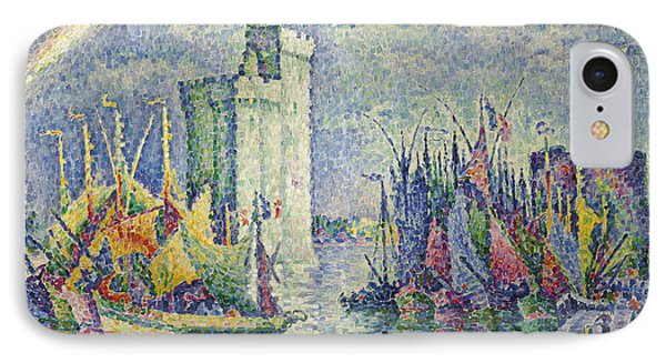 Rainbow At The Port Of La Rochelle IPhone Case by Paul Signac