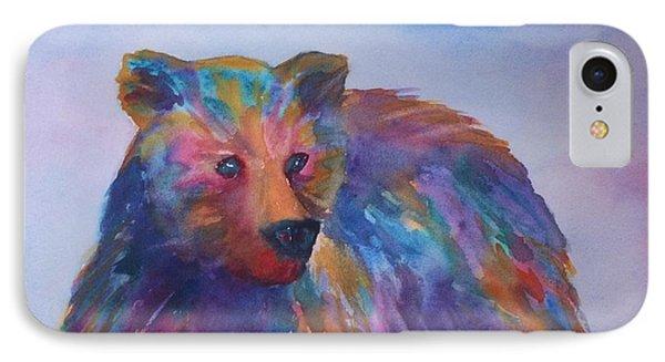 Rainbow Bear IPhone Case by Ellen Levinson