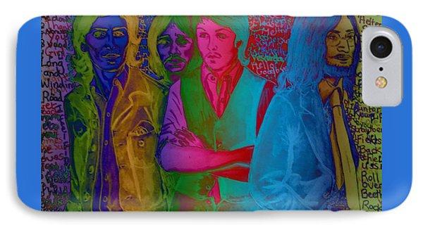 Rainbow Beatles Series Blue Jacket John IPhone Case by Joan-Violet Stretch