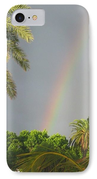 IPhone Case featuring the photograph Rainbow Bermuda by Photographic Arts And Design Studio