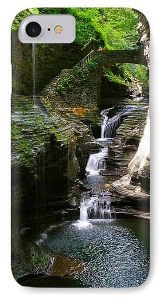 Rainbow Bridge And Falls IPhone Case by Richard Engelbrecht