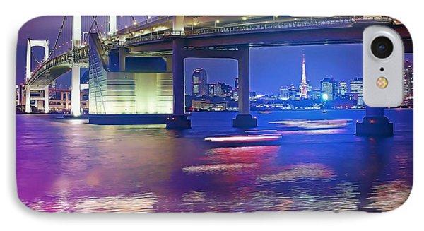 Rainbow Bridge At Night Phone Case by Stefano Senise