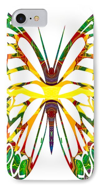 Rainbow Butterfly Abstract Nature Artwork Phone Case by Omaste Witkowski