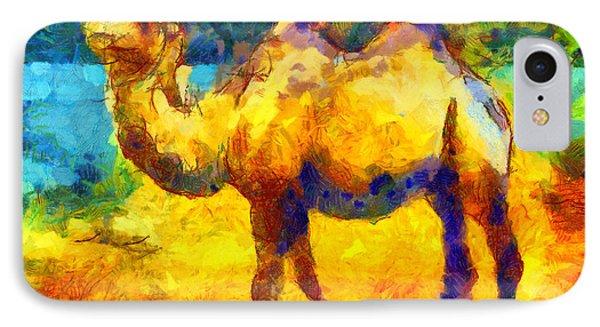 Rainbow Camel IPhone Case by Pixel Chimp
