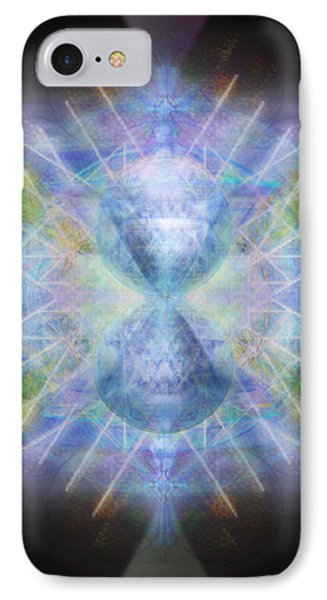 IPhone Case featuring the digital art Rainbow Chalice Cell Isphere Matrix by Christopher Pringer