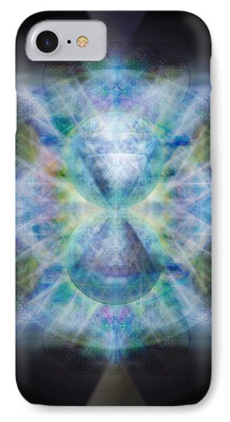 Rainbow Chalice Cell Isphere Matrix II IPhone Case by Christopher Pringer