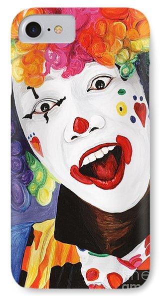 Rainbow Clown Phone Case by Patty Vicknair