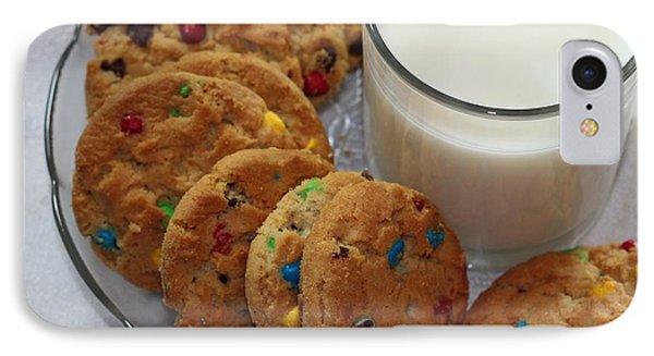 Rainbow Cookies And Milk 2 - Food Art - Kitchen - Children IPhone Case