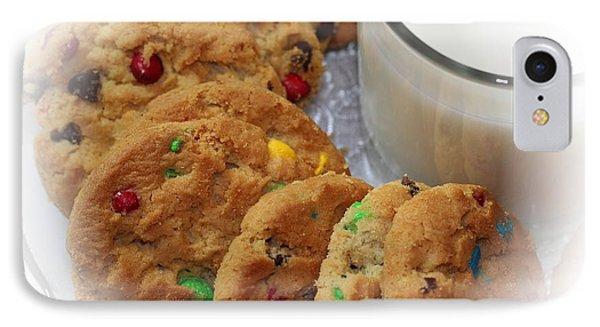 Rainbow Cookies And Milk - Food Art - Kitchen IPhone Case