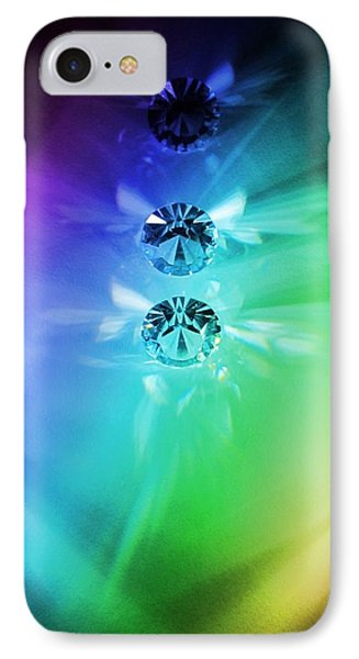 Rainbow Crystals IPhone Case by Marianna Mills