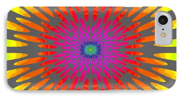 Rainbow Daisy Mandala  C2014  IPhone Case by Paul Ashby