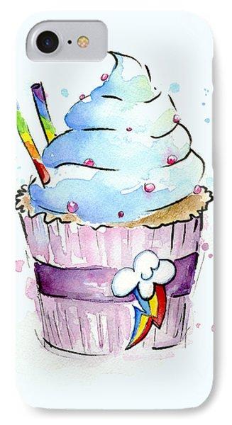 Rainbow-dash-themed Cupcake IPhone Case by Olga Shvartsur