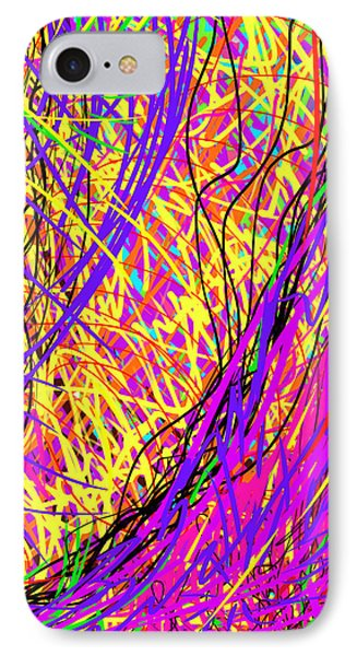 Rainbow Divine Fire Light Phone Case by Daina White