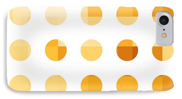 Rainbow Dots Orange IPhone Case by Pixel Chimp