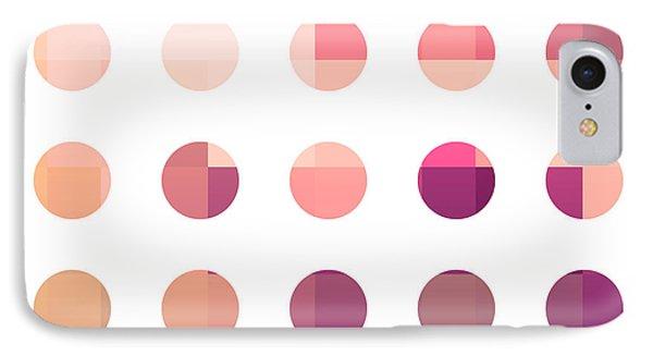 Rainbow Dots Rose IPhone Case by Pixel Chimp