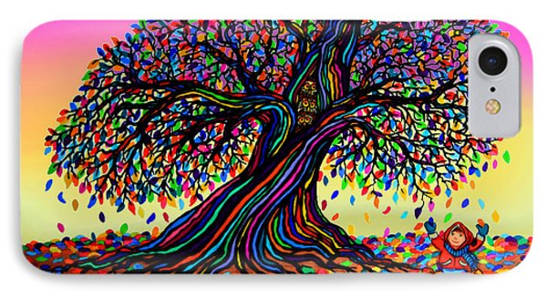 Rainbow Dreams And Falling Leaves Phone Case by Nick Gustafson