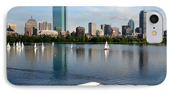 Rainbow Duck Boat On The Charles IPhone Case