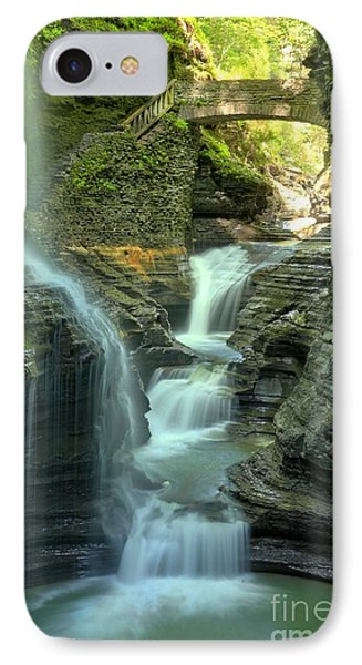 Rainbow Falls Into The Canyon IPhone Case by Adam Jewell