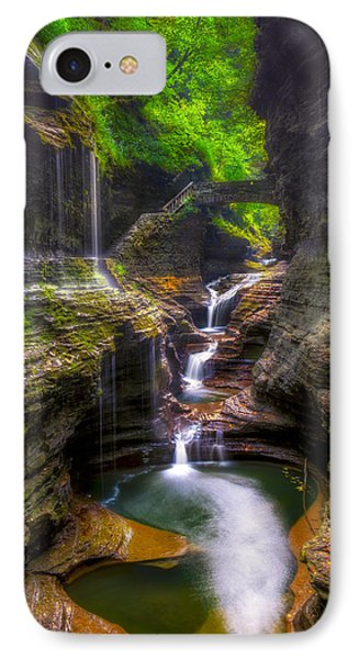 Rainbow Falls Of Watkins Glen Phone Case by Mark Papke