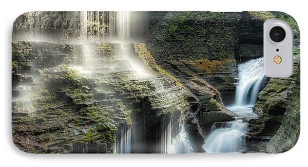 Rainbow Falls Square IPhone Case by Bill Wakeley