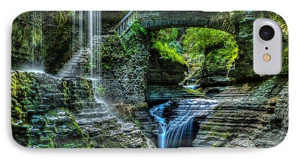 Rainbow Falls Watkins Glen IPhone Case