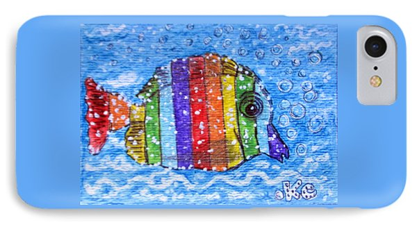 Rainbow Fish Phone Case by Kathy Marrs Chandler