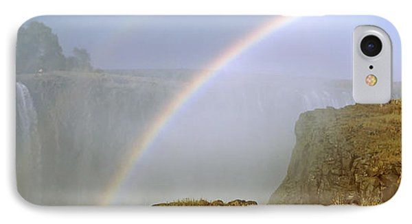 Rainbow Form In The Spray Created IPhone Case by Panoramic Images