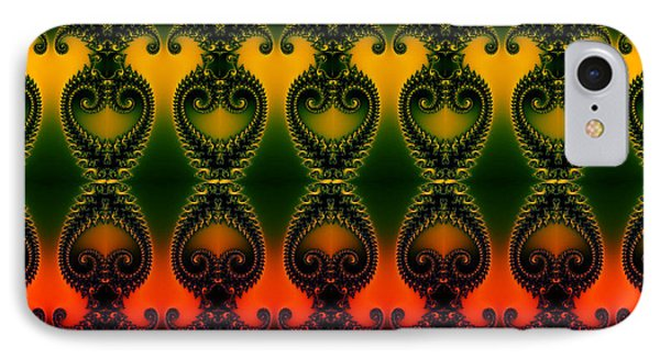 IPhone Case featuring the digital art Rainbow Fractal Pattern by Clayton Bruster